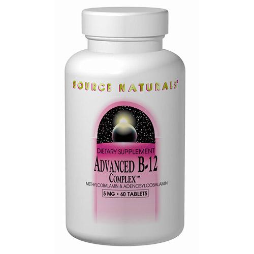 Vitamin B-12 (Vitamin B12) Advanced Methylcobalamin/ Adenosylcobalamin Folate Complex 30 tabs from Source Naturals