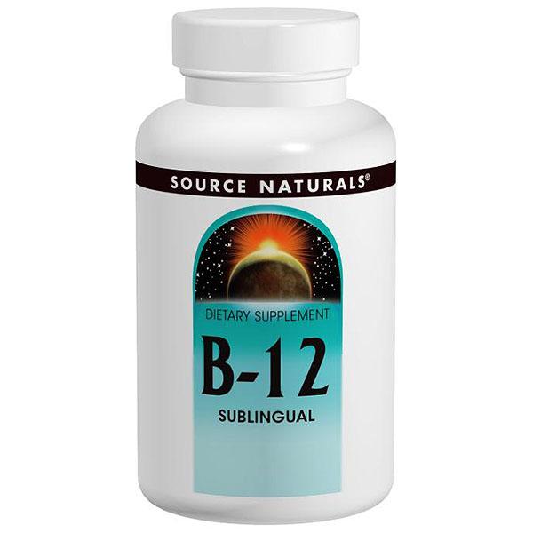 Vitamin B-12 (Vitamin B12) Sublingual 2000mcg 50 tabs from Source Naturals