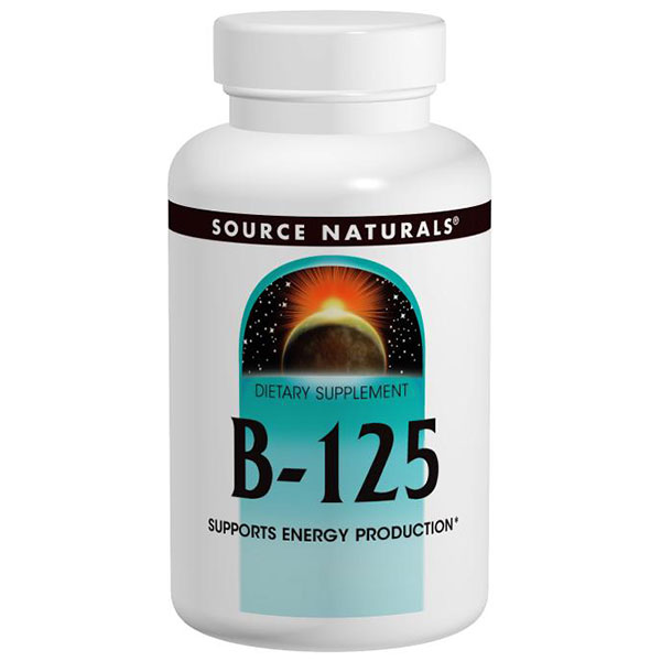 Vitamin B-125 B Complex Yeast Free 125mg 60 tabs from Source Naturals