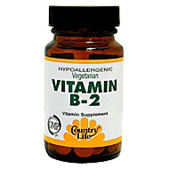 Vitamin B-2 100 mg 100 Tablets, Country Life