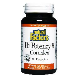 Vitamin B Complex Hi Potency 50mg 90 Capsules, Natural Factors
