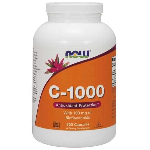 Vitamin C-1000 500 Caps, NOW Foods