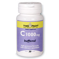 Vitamin C 1000mg Buffered 30 tabs, Thompson Nutritional Products