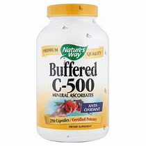 Buffered C-500, Vitamin C Mineral Ascorbates, 100 Caps from Natures Way
