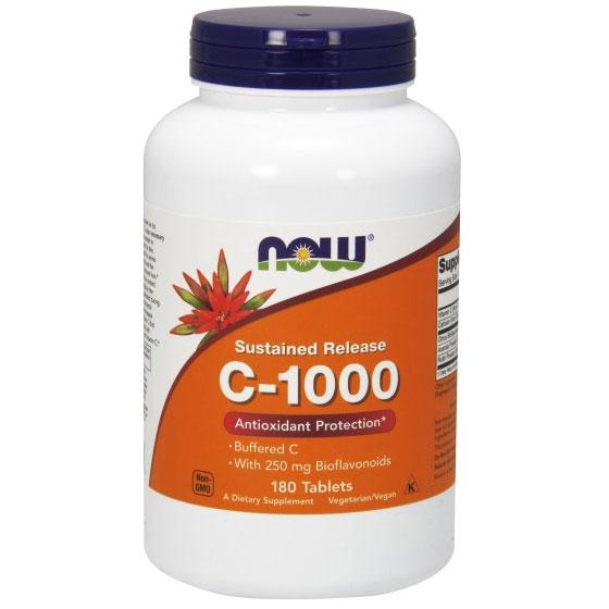 Vitamin C-1000 Complex 180 Tabs, NOW Foods
