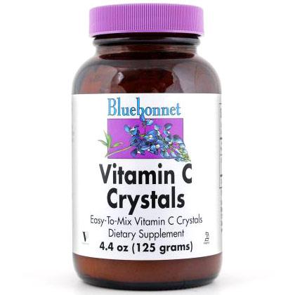 Vitamin C Crystals, 4.4 oz, Bluebonnet Nutrition