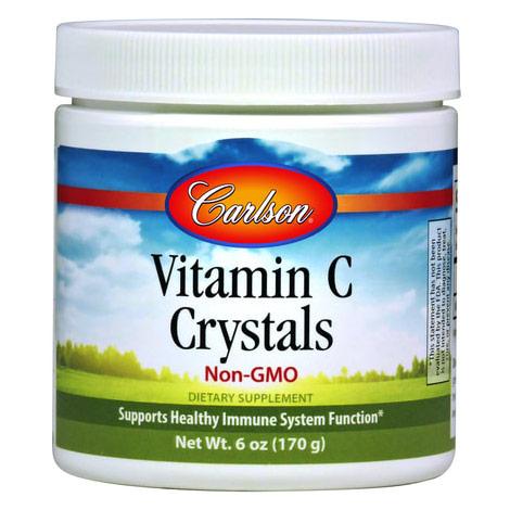 Vitamin C Crystals Non-GMO Powder, 6 oz (170 g), Carlson Labs