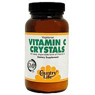 Vitamin C Crystals Powder 8 oz, Country Life