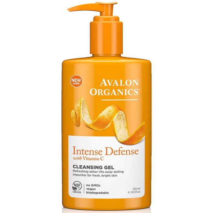 Vitamin C Refreshing Facial Cleanser ( Cleansing Gel ) 8.5 oz, Avalon Organics