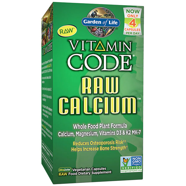 Vitamin Code, Raw Calcium, Whole Food Plant Form, 120 Vegetarian Capsules, Garden of Life