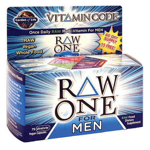 Vitamin Code, Raw One for Men, 30 Vegan Caps, Garden of Life