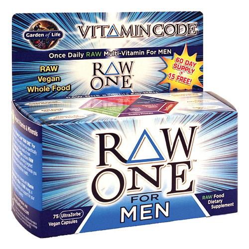 Vitamin Code, Raw One for Men, 75 Vegan Caps, Garden of Life