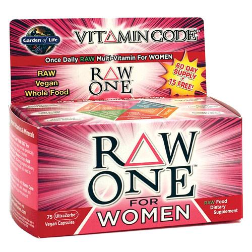 Vitamin Code, Raw One for Women, 30 Vegan Caps, Garden of Life