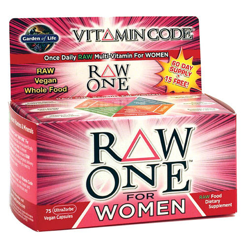 Vitamin Code, Raw One for Women, Whole Food Multi-Vitamin, 75 Vegan Caps, Garden of Life