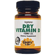 Vitamin D 1000 Units Dry 100 Tablets, Country Life