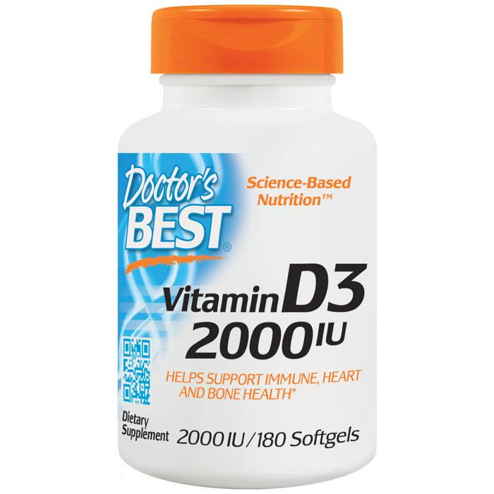 Vitamin D3 2000 IU, 180 Softgels, Doctors Best