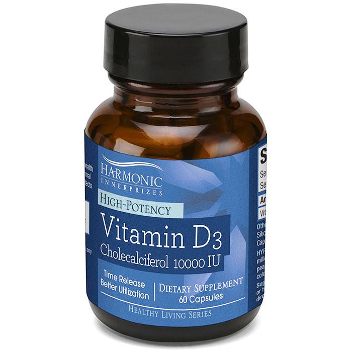 Vitamin D3 10000 IU, 60 Capsules, Harmonic Innerprizes