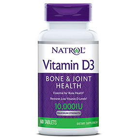 Vitamin D3 10000 IU, 60 Tablets, Natrol
