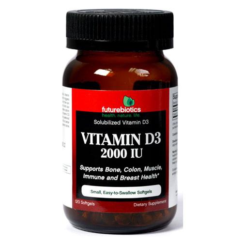 Vitamin D3 2000 IU, 120 Softgels, FutureBiotics