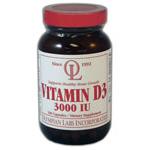 Vitamin D3 3000 IU, 100 Capsules, Olympian Labs