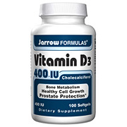 Vitamin D3 ( D-3 ) 400 IU, 100 Softgels, Jarrow Formulas