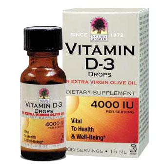 Platinum Vitamin D-3 Drops 4000 IU, 0.5 oz, Natures Answer