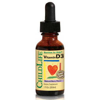 ChildLife Vitamin D3 Liquid Drops For Children, Natural Berry, 1 oz