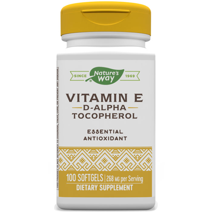 Vitamin E 400 IU D-Alpha Tocopherols 100 softgels from Nature&#39;s Way