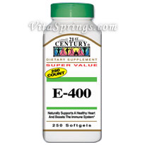 Vitamin E 400 IU Dl Alpha 250 Softgels, 21st Century (Vitamins Supplements - Vitamin E)
