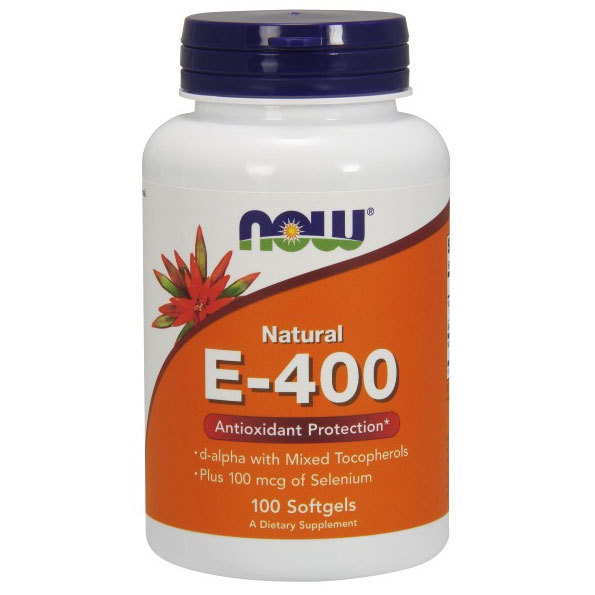 Vitamin E 400 IU With Selenium 100 Gels, NOW Foods