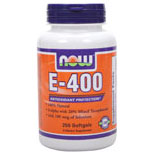 Vitamin E 400 IU With Selenium 250 Gels, NOW Foods