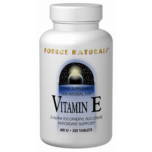 Vitamin E d-alpha Tocopherol 400 IU Succinate 100 tabs from Source Naturals