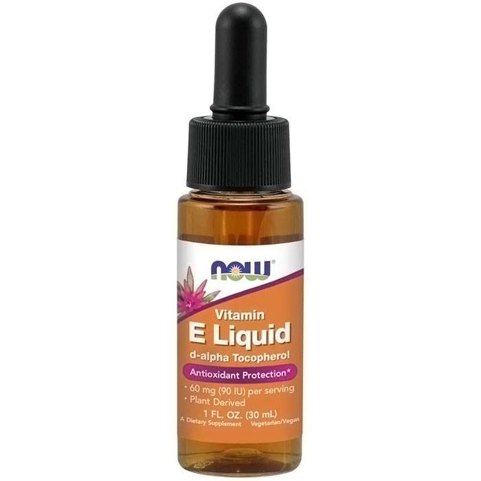 Vitamin E Liquid 1 oz, NOW Foods (Vitamins Supplements - Vitamin E)