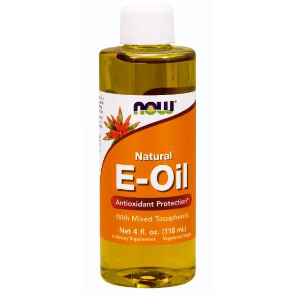 Vitamin E Oil 80% Mixed Tocopherols Vegetarian 4 oz, NOW Foods
