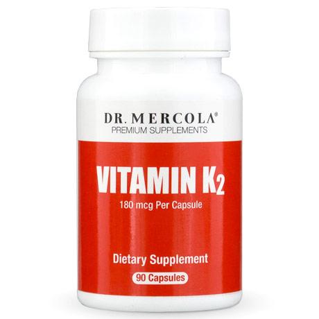 Vitamin K2, Value Size, 90 Capsules, Dr. Mercola