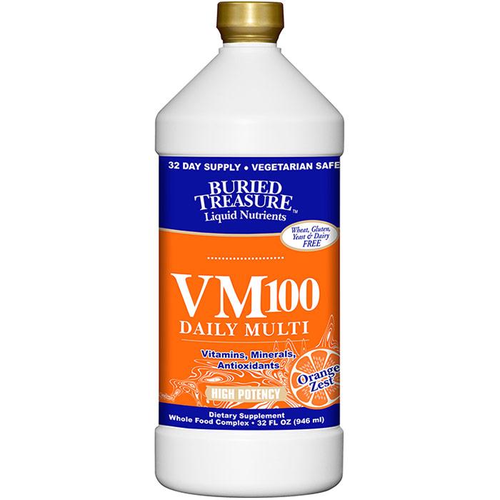 VM-100 Complete, Highest Potency Liquid Multi, 32 oz, Buried Treasure Liquid Nutrients