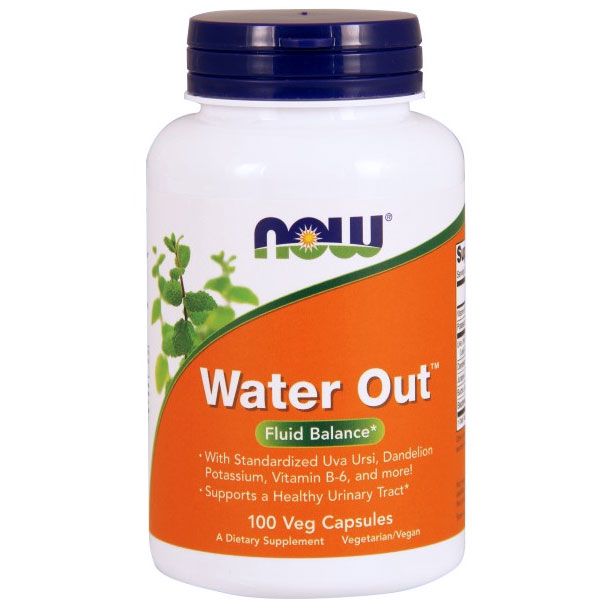 Water Out, Herbal Diuretic, 100 Vcaps, NOW Foods