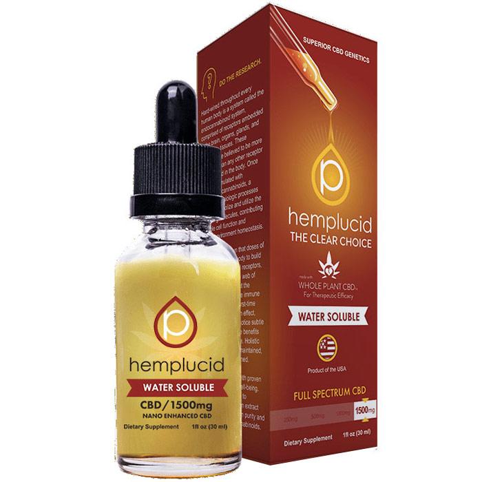 Water Soluble CBD Drops 1500 mg, 30 ml, Hemplucid