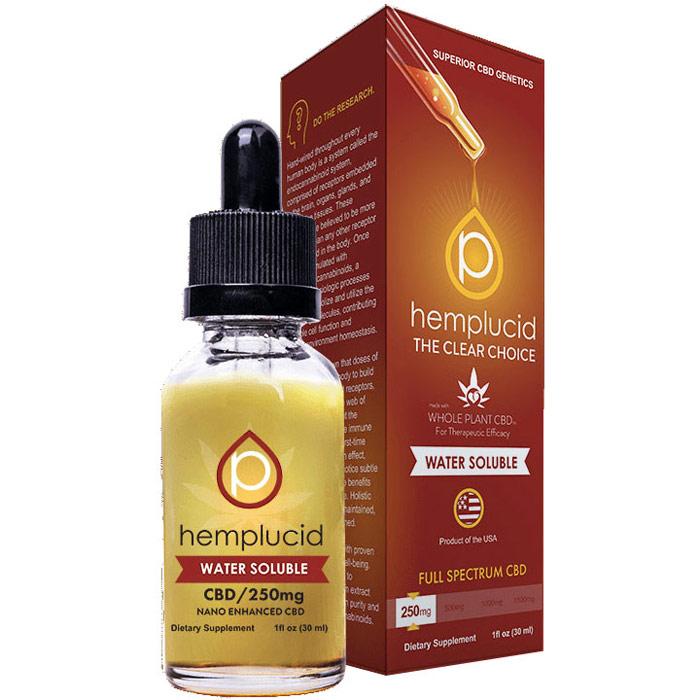 Water Soluble CBD Drops 250 mg, 30 ml, Hemplucid