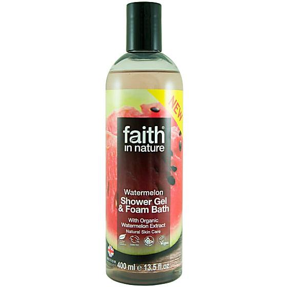 Watermelon Shower Gel & Foam Bath, 13.5 oz, Faith in Nature