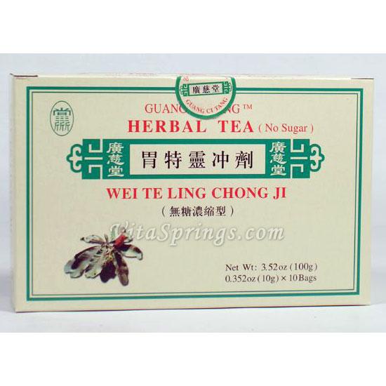 Wei Te Ling Chong Ji, Herbal Tea, 10 Bags, Guang Ci Tang