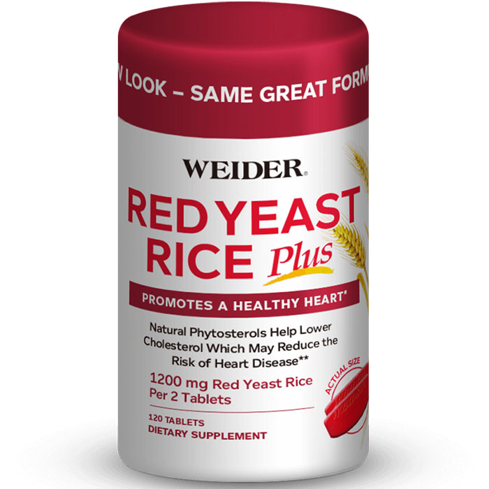 Weider Red Yeast Rice Plus, 120 Tablets