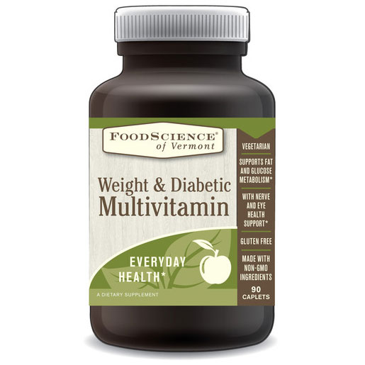 Weight & Diabetic Multivitamin, 180 Capsules, FoodScience Of Vermont