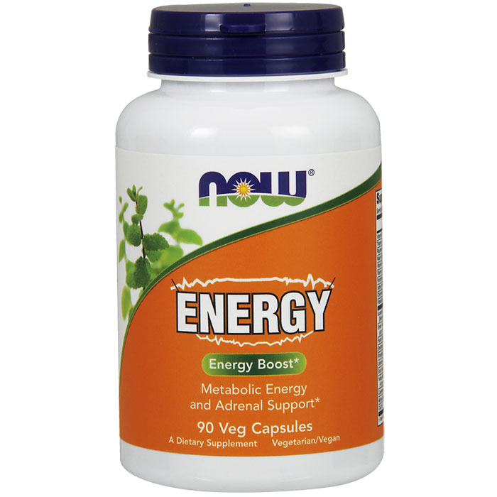 Energy, Metabolic Energy and Adrenal Support, 90 Vegetarian Capsules, NOW Foods