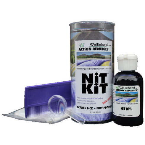 Nit Kit Lice Treatment Kit, 3 pc, Wellinhand Action Remedies