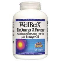 WellBetX RxOmega-3 Factors with Borage Oil 120 Softgels, Natural Factors