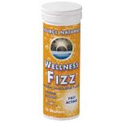 Wellness Fizz Tangerine, Fast-Acting Immune Defense, 10 Wafers, Source Naturals