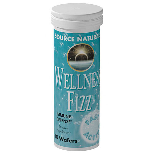 Wellness Fizz Wafer Effervescent, Multi-Vitamins & Herbs, 10 Wafers, Source Naturals