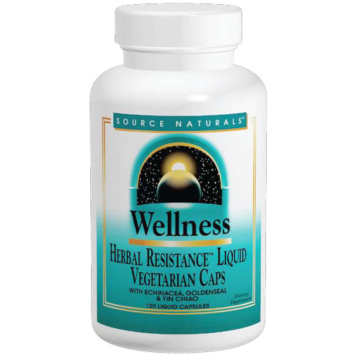 Wellness Herbal Resistance, 30 Vegetarian Liquid Capsules, Source Naturals