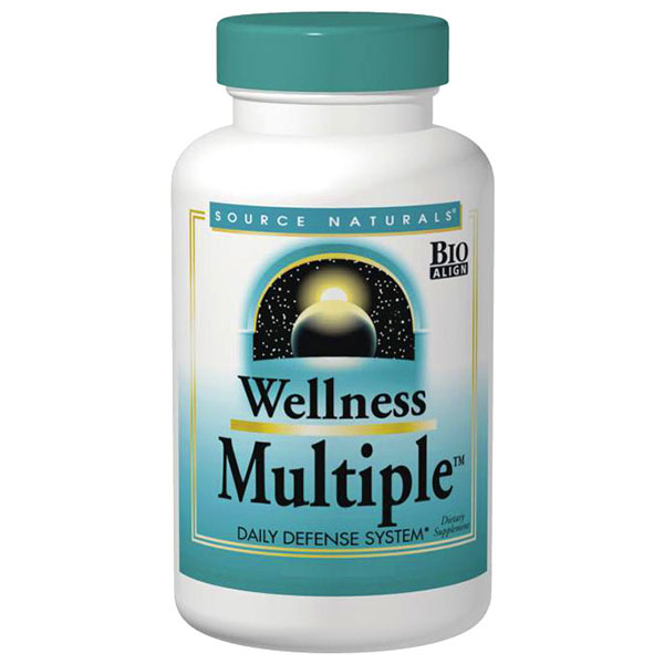 Wellness Multiple, Companion to Wellness Formula, 120 Tablets, Source Naturals